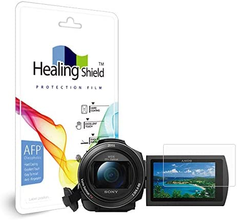 2pc Healingshield Screen Protector Oleophobic AFP Clear Film Compatible for Sony FDR-AX40