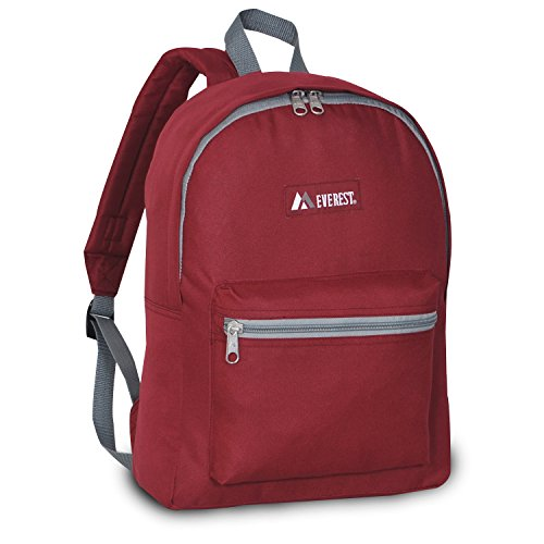 Everest Basic Backpack, Burgundy, One Size