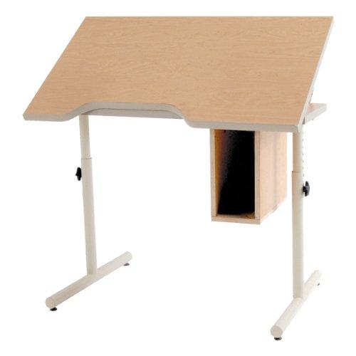 Knob-Adjusted Wheelchair Accessible School Desk - Tilt Adjustment Desktop