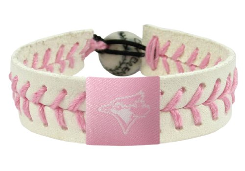 (GameWear Toronto Blue Jays Bracelet Baseball Pink)