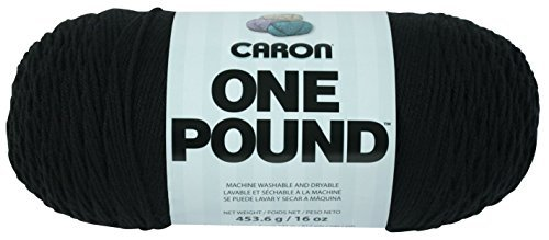 Spinrite Acrylic One Pound Yarn-Black by Spinrite (Yarn Pound Black One)