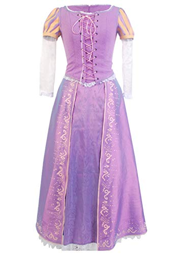 Sidnor Tangled Halloween Cosplay Costume Princess Rapunzel Dress Ball Gown Outfit Suit]()