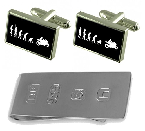 James Bond Money Cufflinks Man to Clip Evolution Motorbike Ape amp; vwqPY
