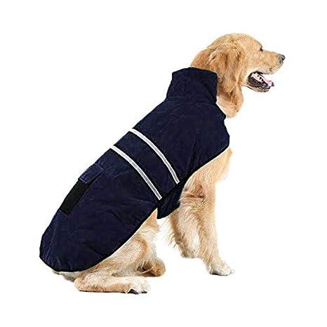 Liboom Abrigo para Mascotas Perros Chubasqueros Invierno Otoño Chaleco Caliente Abrigo Chaqueta Reflectante Resistente al Viento para Mascotas Perros L ...