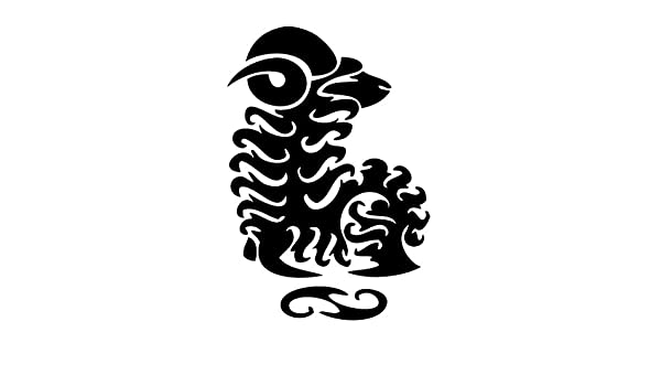 56307c3b97c4b Amazon.com: Leon Online Box Aries Star Zodiac - Tribal Decal [Choice] Vinyl  Sticker for Car, Bike, iPad, Laptop, MacBook, Helmet: Home & Kitchen