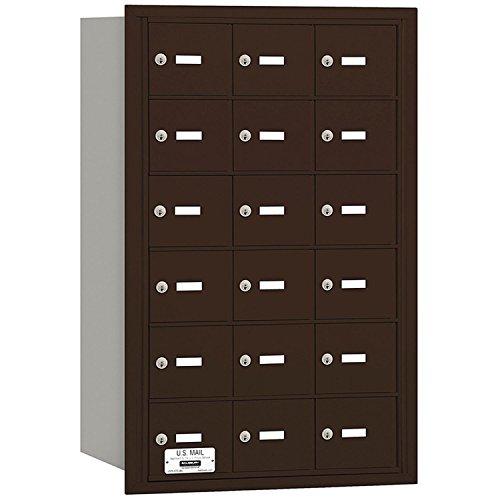 Salsbury Industries 3618ZRU 4B Plus Horizontal Mailbox, 18 A Doors, Rear Loading, USPS Access, Bronze
