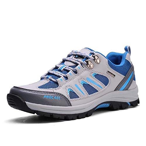 Mens Hiking Shoes Men's Outdoor Sports Shoes Breathable Running Shoes(Blue-Lable 41/7.5 D(M) US Men)