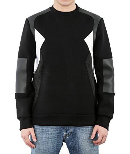 wiberlux-neil-barrett-mens-neoprene-quilted-paneled-sweatshirt-m-black