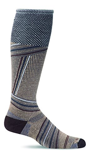 Price comparison product image Sockwell Men's Summit Graduated Compression Socks, Khaki, Large/X-Large
