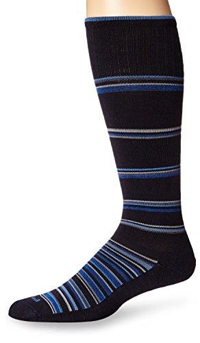 Sockwell Men's Concentric Stripe Socks, Medium/Large, Navy