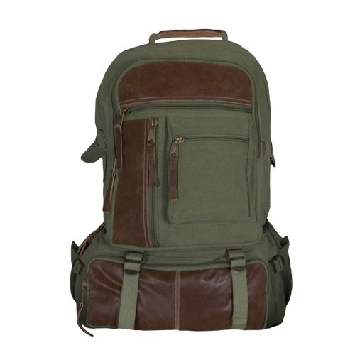 Fox Outdoor Products Retro Cantabrian Excursion Rucksack, Olive Drab