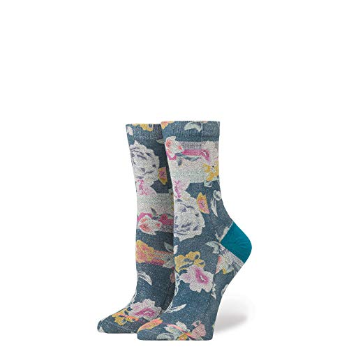 Stance Women's Hermosa Floral Arch Support Anklet Sock, Blue Small ()