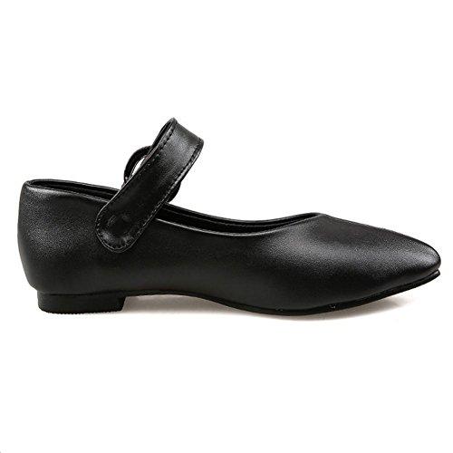 piatto resistere black 39 delle tacco libero nero antiscivolo traspirante HLe Rosso Bianco scarpe indossare H tempo donne stagioni levigatura quattro qUawOH1