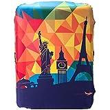 غطاء واقي حقيبة سفر لحقيبة سفر أكثر سمكًا لجراب السيارة يوضع على 22-25 بوصة غطاء حقيبة بدلة