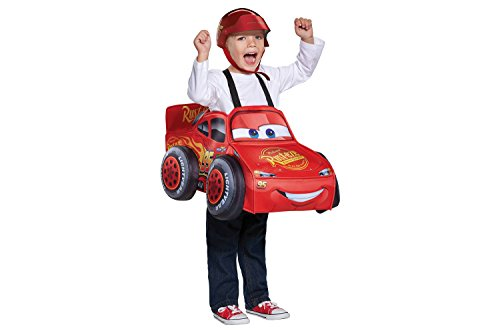 Mcqueen Costumes Lightning Toddler (Cars Lightning McQueen 3 D Deluxe Toddler Costume With)