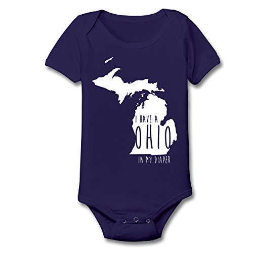 I Have An Ohio In My Diaper Funny College Football Hate Ohio OH io Fan Michigan Humor Baby One Piece 6 Months - Michigan Outlet Stores In
