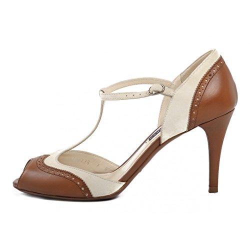 vestir mujer Ralph de marrón para Sandalias Lauren 6n7X7gF