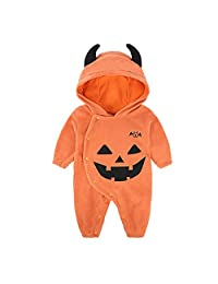 Fairy Baby Infant Baby Unisex Halloween Costume Outfit Pumpkin Winter Romper Jumpsuit