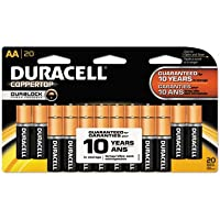 CopperTop Alkaline Batteries with Duralock Power Preserve Technology, AA, 20/Pk, Sold as 2 Package