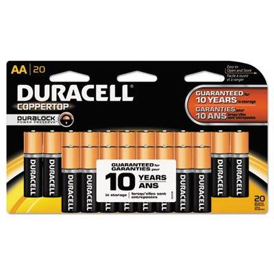 CopperTop Alkaline Batteries with Duralock Power Preserve Technology, AA, 20/Pk, Total 12 PK, Sold as 1 Carton