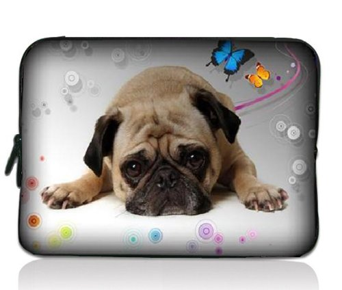 """Cute Puppy Dog Soft 7"""" 8"""" 8.2"""" Notebook Sleeve Bag Case Cover Pouch For 7in HKC Capacitive Touchscreen Tablet/Apple iPad mini 7.9 in/Samsung GALAXY Tab P3100 2,7.7""""/Kindle Paperwhite/Kindle Touch/Kindle fire HD 7 inch/7"""" BlackBerry PlayBook /Acer Iconia A100 A101/Google ASUS Nexus 7/Creative ZiiO 7 / 7"""" Inch Archos Arnova ChildPad 7 / Barnes &Noble NOOK Color 7"""" /HTC Flyer Tablet Android Ebook Reader PC MID"""
