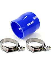 2.5 to 2.0 Inch Blue Silicone Reducer Coupler 5 Layers of Polyester Reinforcement Suitable High Level Turbo Tube with 2x T-Bolt Clamps