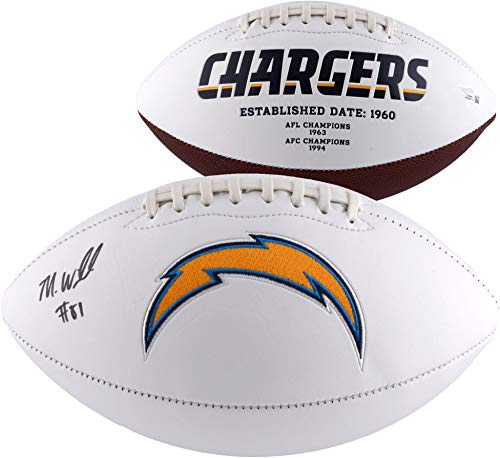(Mike Williams Los Angeles Chargers Autographed White Panel Football - Fanatics Authentic Certified - Autographed Footballs)