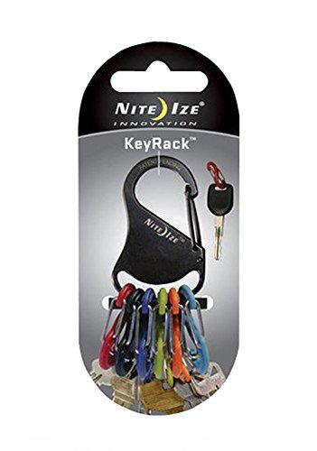 01 Carabiner Clip - Nite Ize KRK-03-01 KeyRack Key Holder with S-Biners