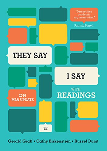 They Say/I Say W/Readings Mla Updated