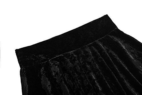 2 Urban Patineuse GoCo Jupe Jupe Plisse Court Rtro Mini Femmes Noir Elastique Fille Velours rdq7tYrx