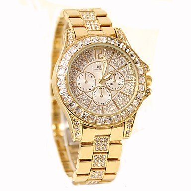 Mens Watches Womens Fashion Watch Pave Watch Casual Watch Chinese Quartz Water Resistant/Water Proof Stainless Steel Band Sparkle Elegant Casual Womens ...