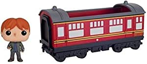 Funko POP Rides: Harry Potter - Hogwarts Express Train car with Ron Weasley Action Figure,Multi