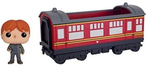 (Funko POP Rides: Harry Potter - Hogwarts Express Train car with Ron Weasley Action Figure )