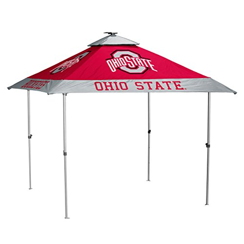 Logo Brands NCAA Ohio State Buckeyes Unisex Adult Pagoda Canopy w/ Side Panel Tailgate Tent, One Size, Red