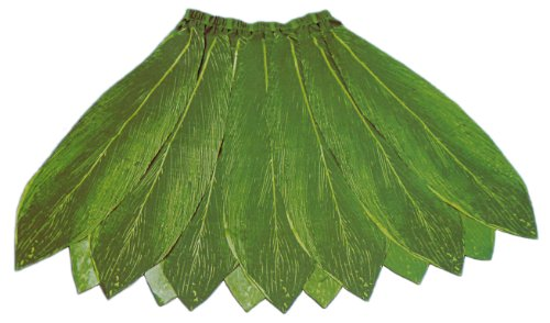 Hawaiian Poly-Silk Ti Leaf Hula Skirt - Adult Size - Reversible