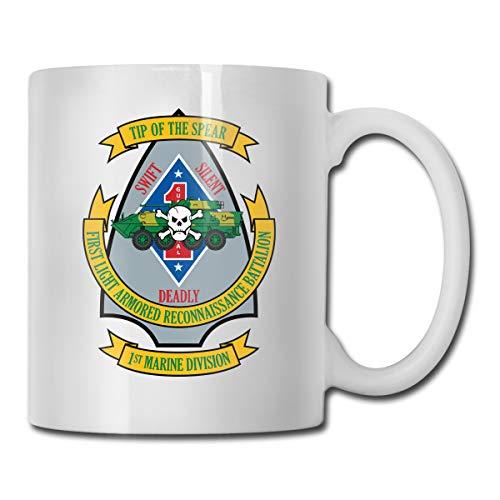 - VRKKDCAP 1st Light Armored Reconnaissance Battalion Funny Novelty Gift Mug White Coffee Mug