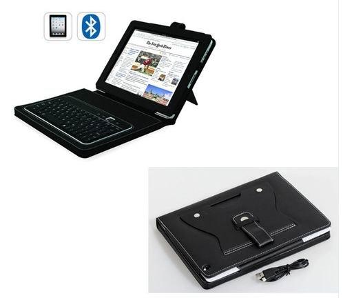 Bluetooth desmontable extraíble teclado + de piel funda para ...