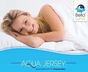 Bella Luna Aqua Jersey sábana bajera ajustable para cama de agua y unos tamaños 180 - -220 cm blanco 200 x 200