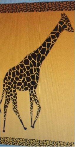 Egyptian Bedding Egyptian Cotton Jacquard Oversized Beach Towel, Giraffe