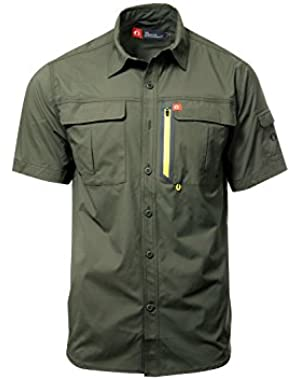 Short Sleeve Blackfoot River Ultimate Fishing Shirts for Men