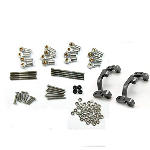 - Upgrade Metal Pull Rod Mount Seat Kit for 1:16 WPL C14 C24 Military Truck RC Car Silver