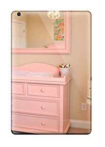 Top Quality Case Cover For Ipad Mini/mini 2 Case With Nice Girls Nursery Soft Pink Changing Table And Mirror Appearance