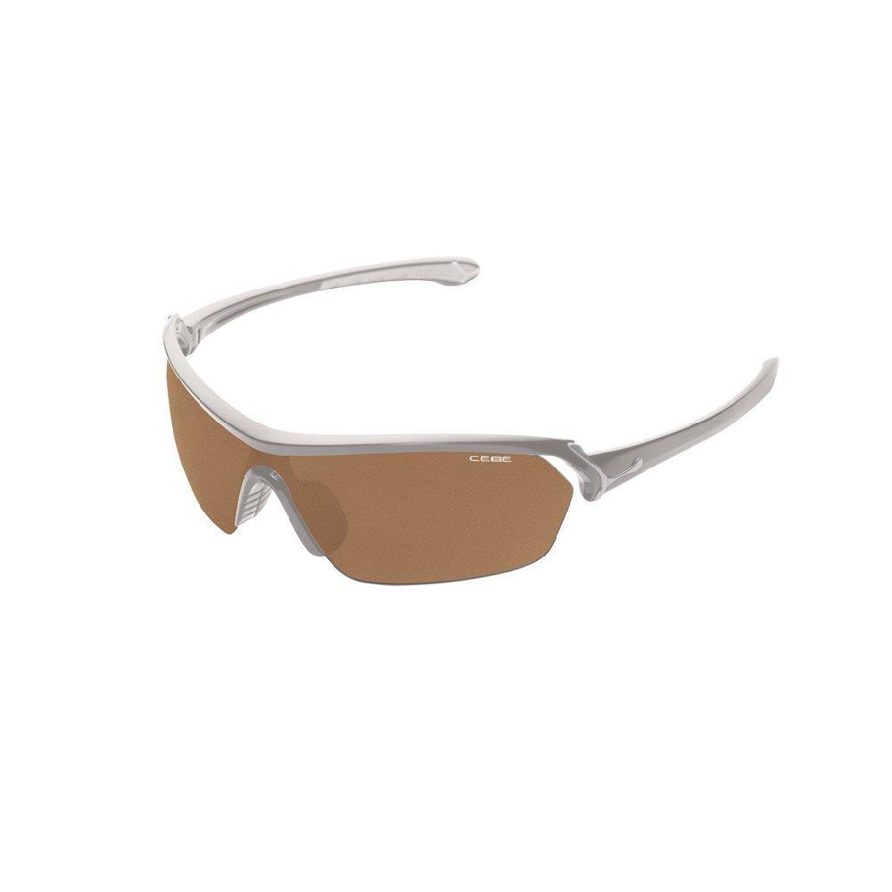 Cebe Eyemax verres Cadre gris métallisé brillant Variochrom Perfo verres marron