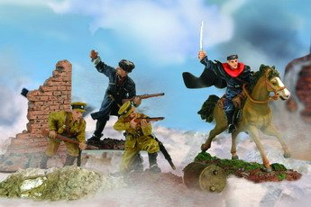 Forces Of Valor 1:72 Scale Combat Proven Machines Plastic Battle Soldiers - Russian Cossack Cavalry Division