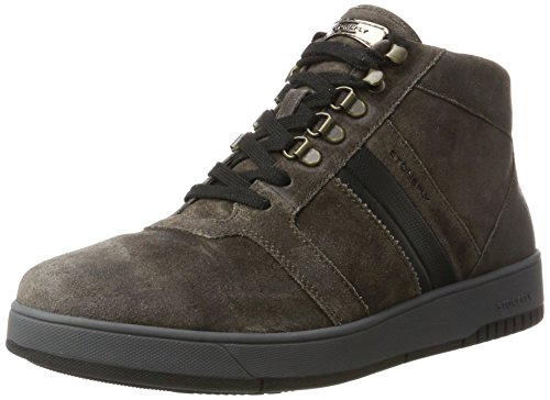 Stonefly Men's Dover 10 Velour Oil Trainers Grey (Charcoal 1a12) outlet official pick a best cheap price cheap sale high quality B0EFTCoC