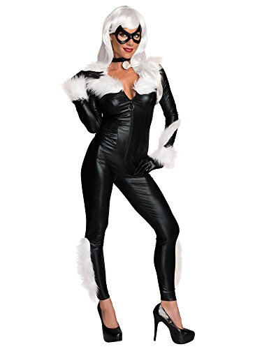 Pics Of Cats In Halloween Costumes (Rubie's Costume Secret Wishes Women's Marvel Universe Black Cat Costume, Black,)