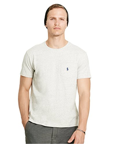 Polo Ralph Lauren Men Long Sleeve Pony Logo T-Shirt (Lawrence Grey, XXL)