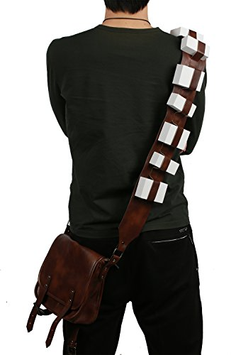 Chewbacca Messenger Bag (Xcoser Chewbacca Bag Durable Brown PU Messager Fashion Cosplay Costume Accessory)