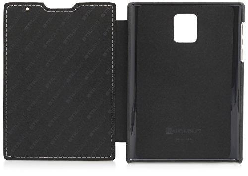 StilGut Book Type, Genuine Leather Case for BlackBerry Passport, Brown & Black Nappa by StilGut (Image #8)