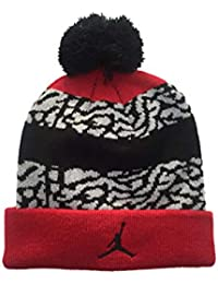 Air Jordan Grade School Pom Beanie (Red/Black)